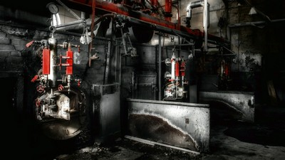 boiler room, decay, abandon - image