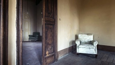chair, doors, room - image