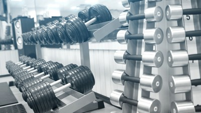 fitnesscenter, udstyr, distribution, dumbell - image