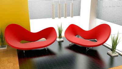 living, salon, canapea, design - image