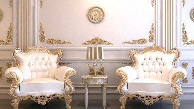 armchairs, room, interior - image