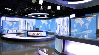 television studio, interior, design, style, China Central Television