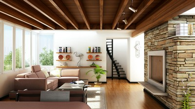interior, villa, living room, design, house, style - image