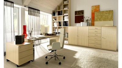 elegant home office design, room, office space, office, study, design, interior, style - image