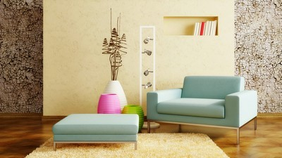 Interior design, decor, wall, vases, chair, design, interior, carpet