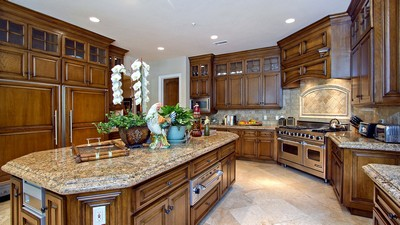 luxury, kitchen, santa fe, home, expensive interior