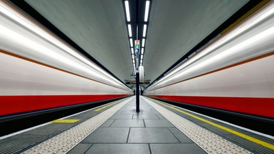 England, London, station, Clapham Common, metro - image