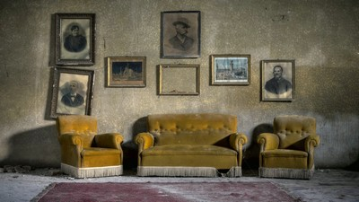 sofa, armchairs, room - image