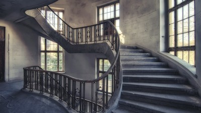 stairs, windows, walls - image