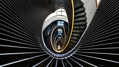 city, architecture, staircase