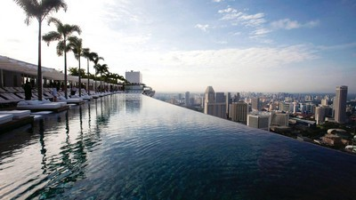 Singapore, Hotel, udsigt, Marina Bay Sands, tag, pool, hotel - image