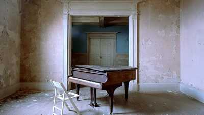 music, beautiful, chair, piano - image