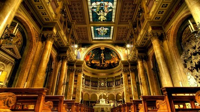 rome, altar, italy, bench, church - image