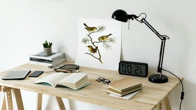 Tablet, Lamp, Design, Desk, Clock, Interior, Notebook
