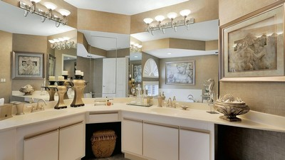 mirrors, bathroom, design, paintings, washbasin