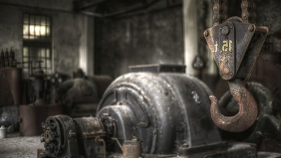 nice, factory, background, forgotten, horror, plant, decor, beautiful